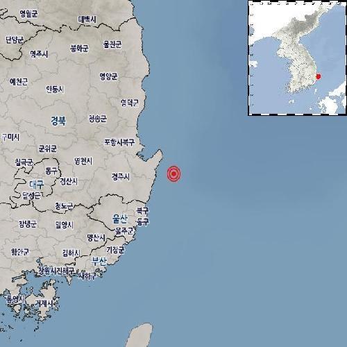"""기상청 """"경북 포항 남구 동남동쪽서 규모 2.0 지진 발생"""""""