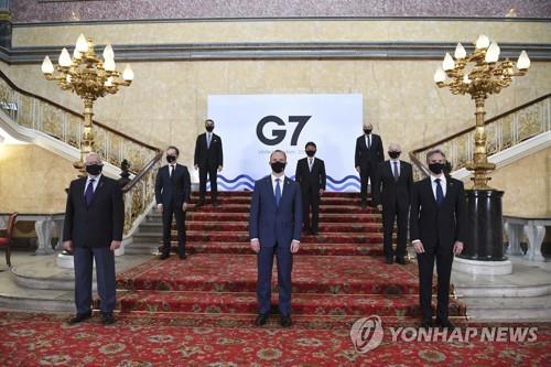 "G7 외교장관 ""러시아 군사위협·인권탄압 우려"""