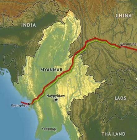 미얀마내 中 송유·가스관 시설 경비인력 사망…중국 향한 경고?