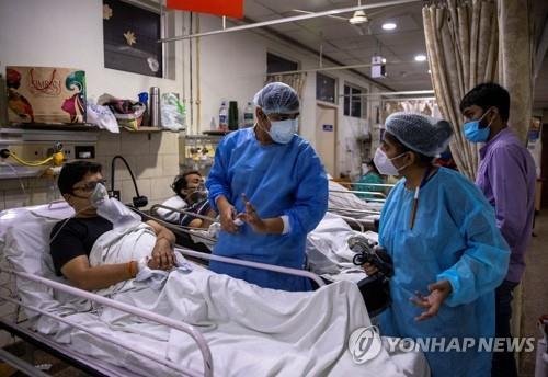 印 신규확진 이틀 연속 최다 기록…41만4천명 '소폭 증가'