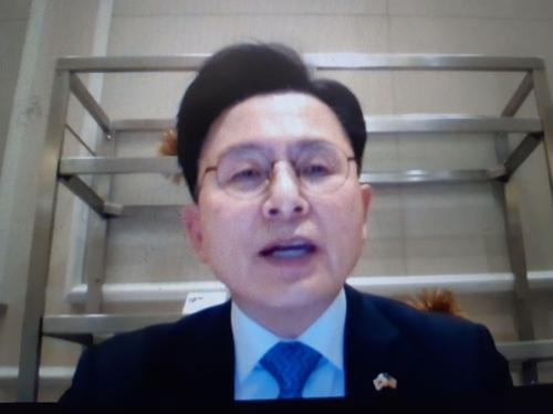 """황교안 """"한국, 쿼드 참여 넘어 5각 동맹 '펜타' 추진해야""""(종합)"""
