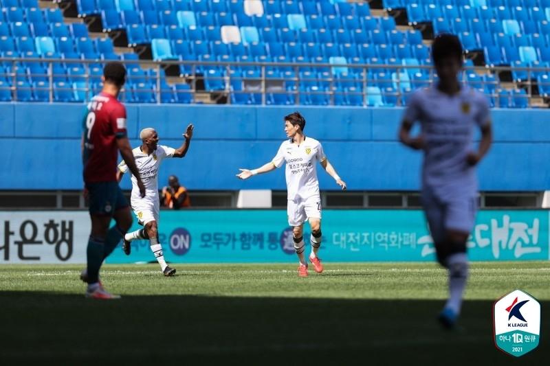 '장순혁 결승골' 전남, 경남에 2-0 승리…'2위로 점프'