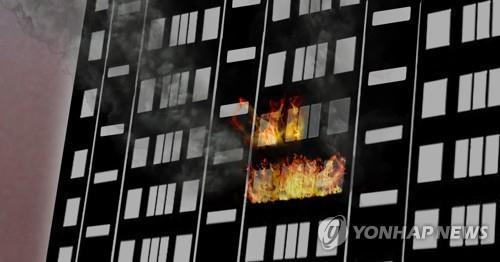 나주 혁신도시 내 아파트서 불…주민 10명 연기 흡입