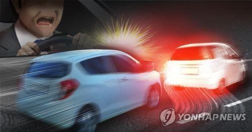 서행하는 택시 추월 후 급정차해 추돌…벌금 300만원