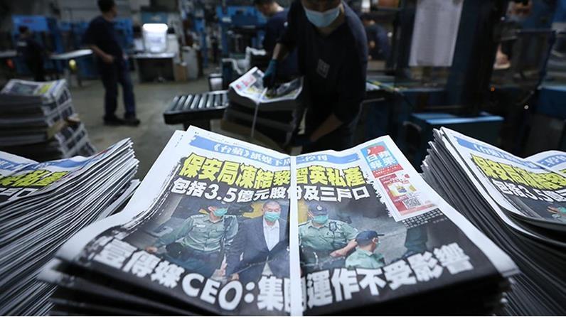 """벼랑에 몰린 홍콩 반중매체 빈과일보…""""홍콩언론계 냉각"""""""