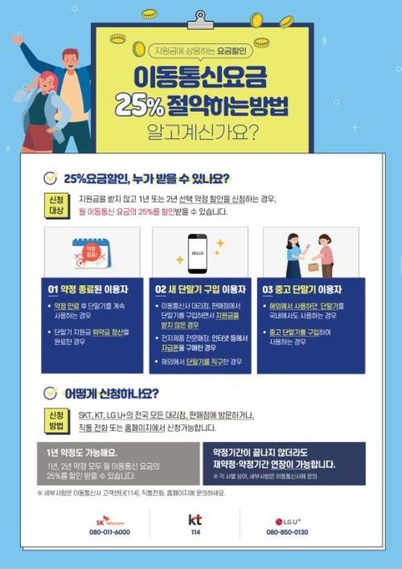 """""""휴대폰 요금 25%할인 챙기세요""""…'스마트초이스'서 조회 가능"""