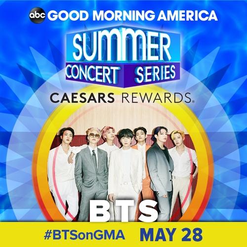 BTS, 미국 '굿모닝 아메리카 서머콘서트' 출연…올해 첫 주자(종합)