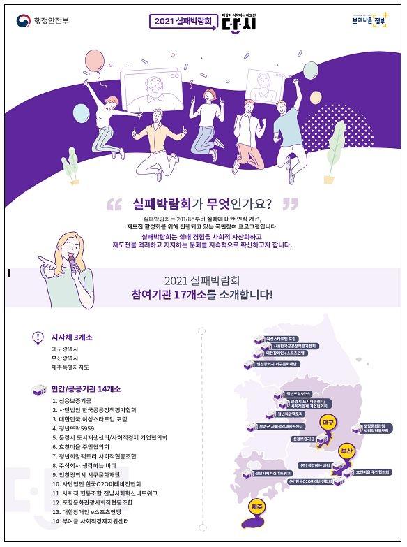 '실패 딛고 다시 일어서요'…실패박람회 5∼11월 개최
