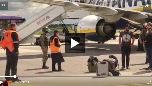 벨라루스, 강제착륙 여객기 기장-관제사 교신 녹취록 공개