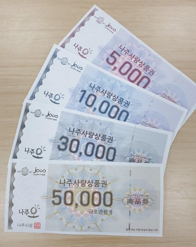 나주시, 지역상품권 10% 할인 판매 6월까지 연장