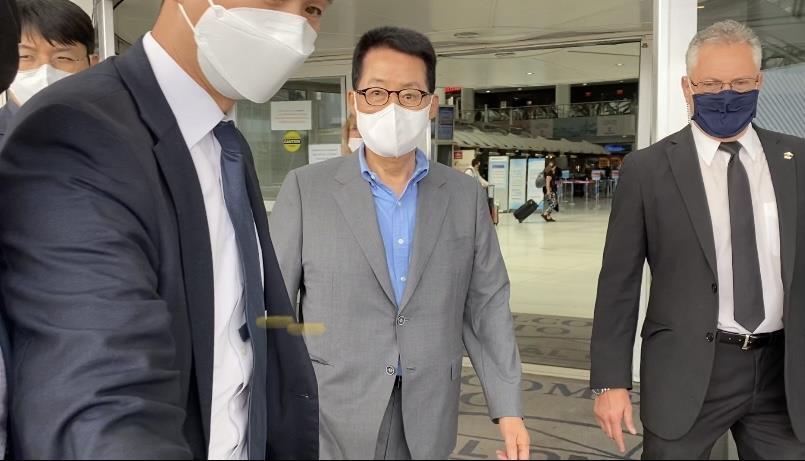 박지원 국정원장, 뉴욕 도착…방미 일정 시작