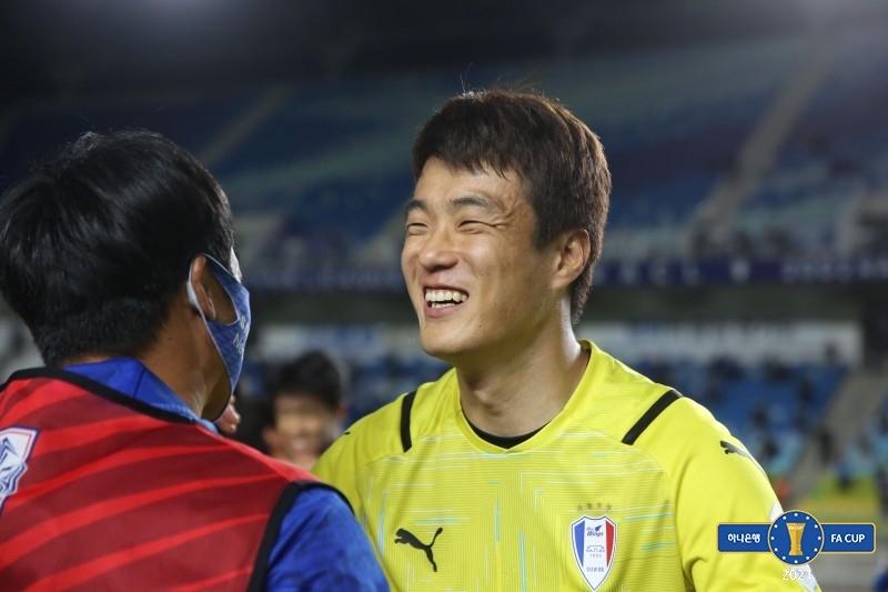 """수원 골키퍼 '예스 동건'의 자신감…""""리그 상위권 해볼만 해"""""""