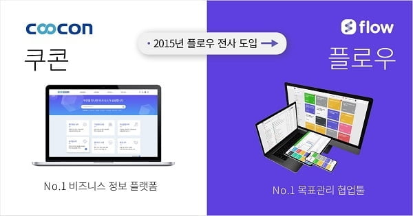 """웹케시 그룹 계열사인 `쿠콘(coocon)`,""""협업툴 플로우"""" 도입... 스마트워크 구축"""