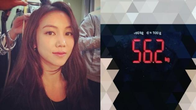 배우 김옥빈(왼쪽)이 몸무게를 공개했다./사진=인스타그램