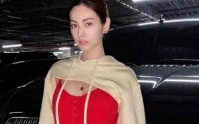 '170cm·51kg' 나나, 가슴 드러낸 파격 패션