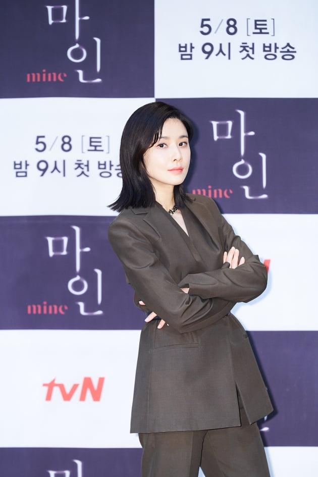 배우 이보영이 7일 오후 온라인 생중계된 tvN 새 토일드라마 '마인' 제작발표회에 참석했다. /사진제공=tvN