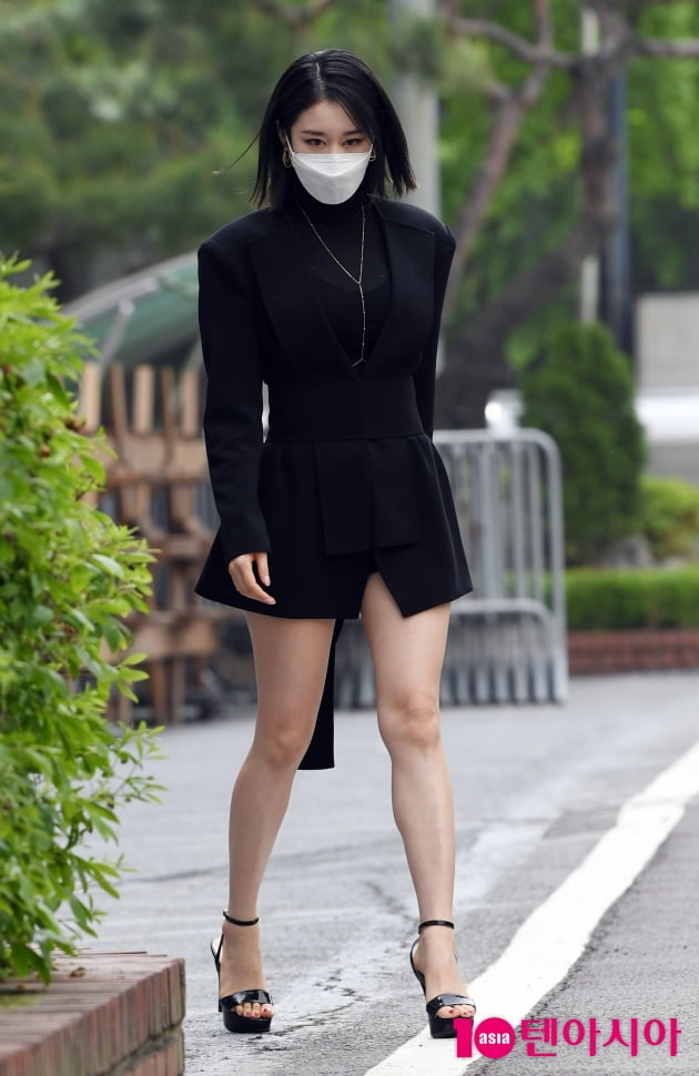 [TEN 포토] 박지연 '오늘은 섹시하게~ 위아래 모두 완벽해'