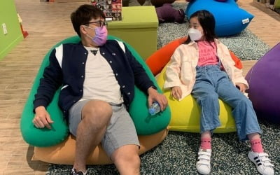 """김동성, 인민정 딸과 첫 나들이…""""달라도 가족"""""""