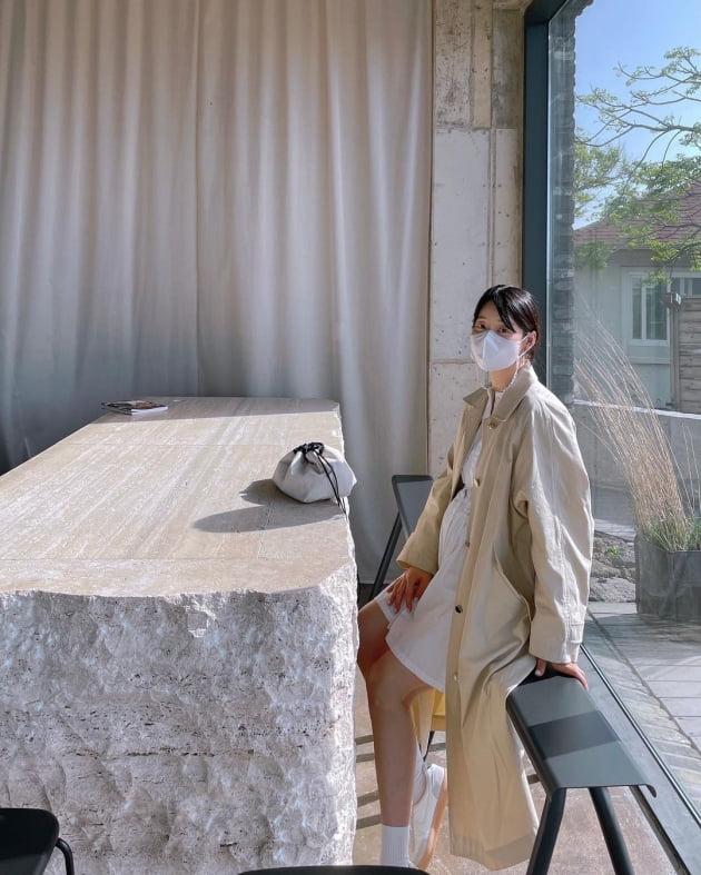 """'만삭' 한지혜 """"아기는 현재 1.8kg, 전 10kg 쩠어요"""" [TEN★]"""