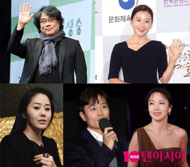 봉준호 감독(왼쪽 위부터 시계방향), 김희애, 전도연, 이병헌, 고현정/ 사진=텐아시아DB