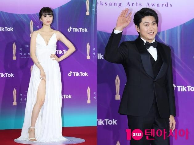 [TEN 포토] 류수영-박하선 '일도 사랑도 다 잡은 부부'(백상예술대상)
