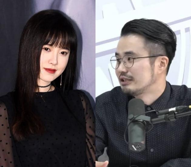 배우 구혜선(왼쪽)와 이규원 작가/ 사진=텐아시아DB, 인스타그램