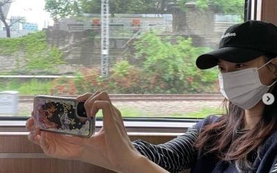 신민아, ♥김우빈과 기차여행 중?