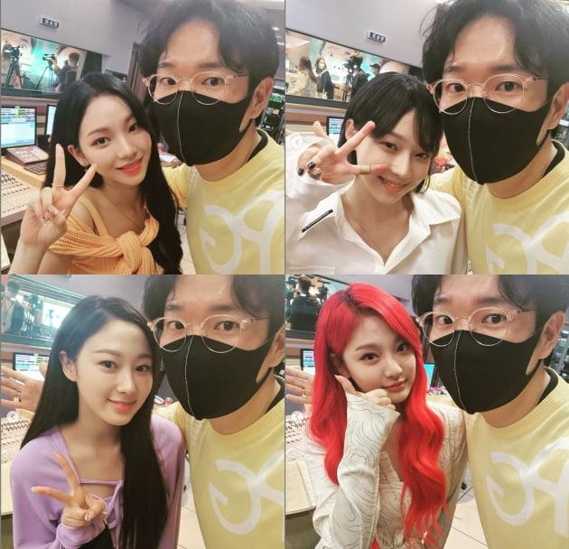 장성규와 에스파 멤버들./ 사진=인스타그램