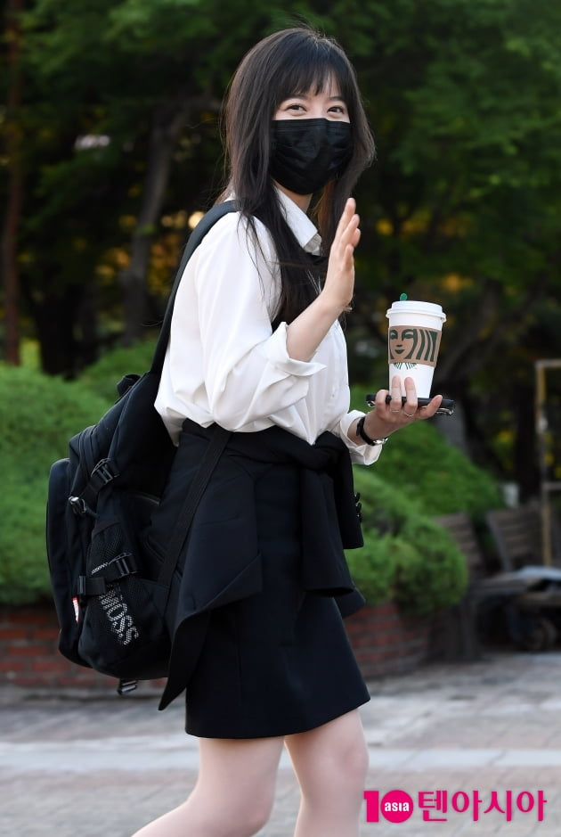 [TEN 포토] 구혜선 '생방송 마치고 안녕~'