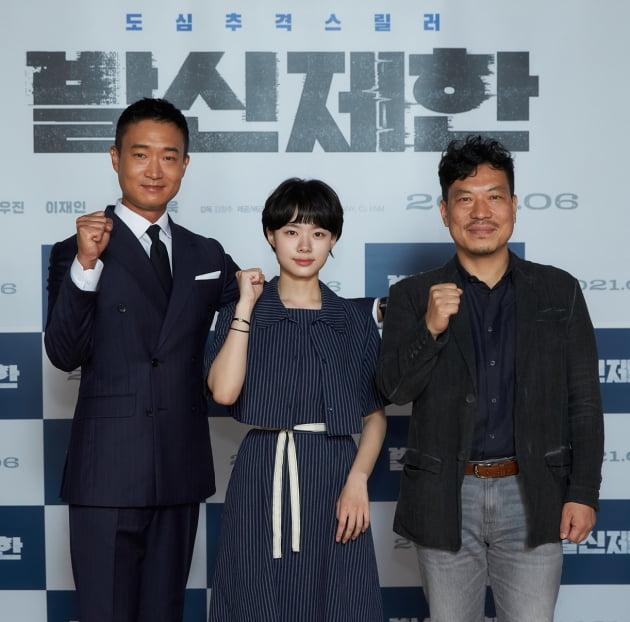 """영화 '발신제한' 배우 조우진, 이재인, 김창주 감독./ 사진제공=""""CJ ENM/TPSCOMPANY"""