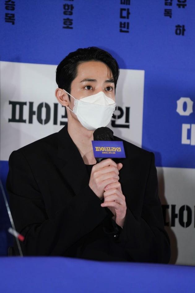 배우 이수혁이 20일 열린 영화 '파이프라인' 언론시사회에 참석했다. / 사진제공=메가박스중앙㈜플러스엠, 리틀빅픽처스