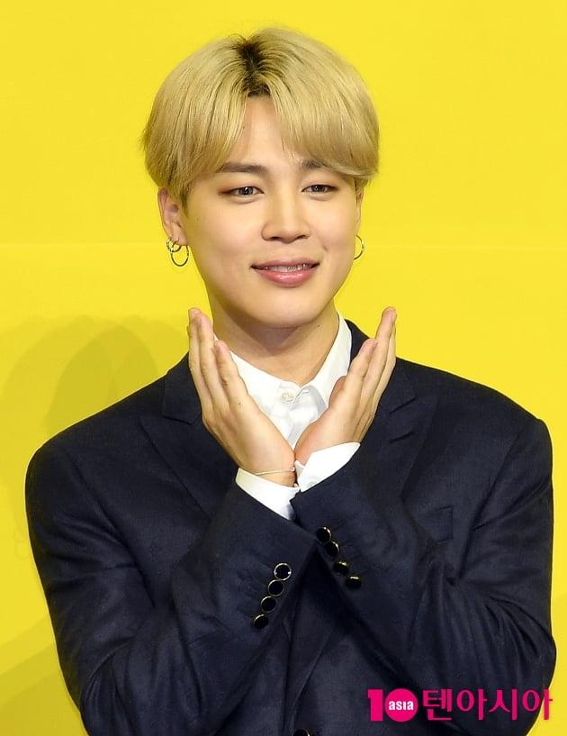 [TEN 포토]방탄소년단(BTS) 지민 '수줍은 꽃받침'
