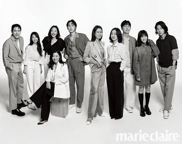 씨제스엔터테인먼트 소속 배우들 / 사진제공=마리끌레르