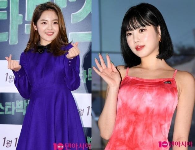 배우 서신애(왼쪽)와 아이들 수진/ 사진=텐아시아DB
