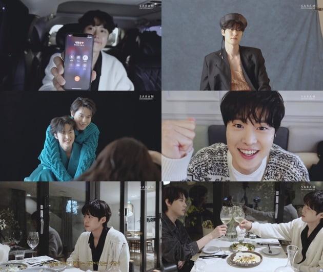 배우 공명과 NCT 도영의 화보 촬영 비하인드 / 사진=사람엔터테인먼트 유튜브 채널 영상 캡쳐
