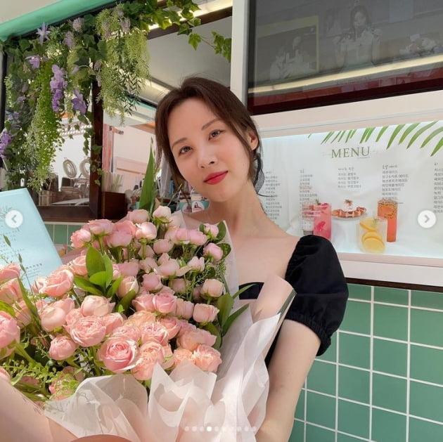 서현 팬들이 보낸 '꽃 을 앞도하는 상큼美 [TEN★]