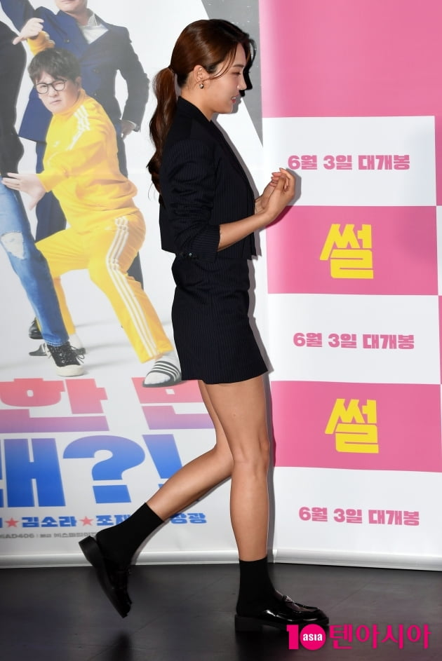 [TEN 포토] 김소라 '구릿빛 피부에 탄탄한 몸매 과시'