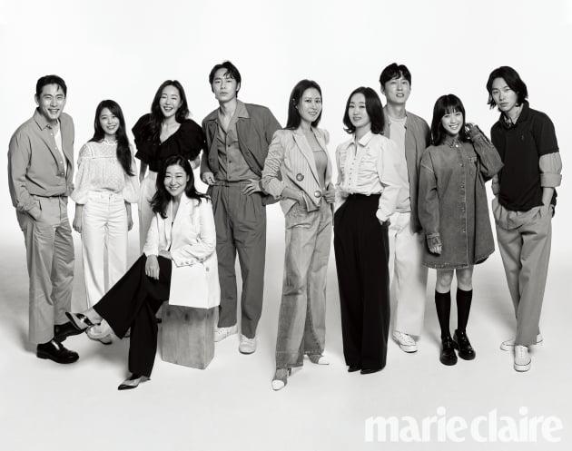 씨제스 엔터테인먼트 배우 단체컷./ 사진제공=마리끌레르