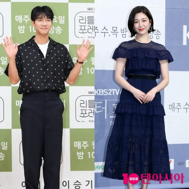배우 이승기(왼쪽)와 이다인. /텐아시아DB