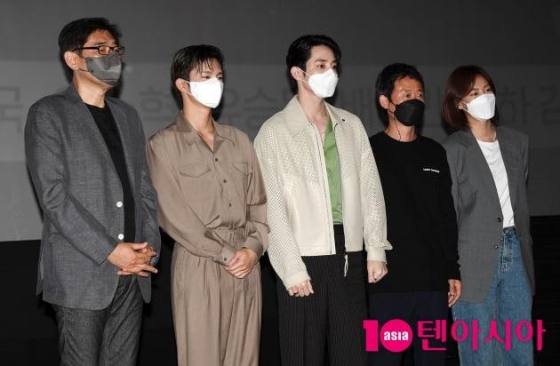[TEN 포토] 영화 '파이프라인' 주역들 무대인사 왔어요