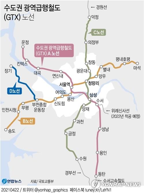 '김부선' 논란에…정부, GTX-D 노선 여의도·용산까지 직결 검토