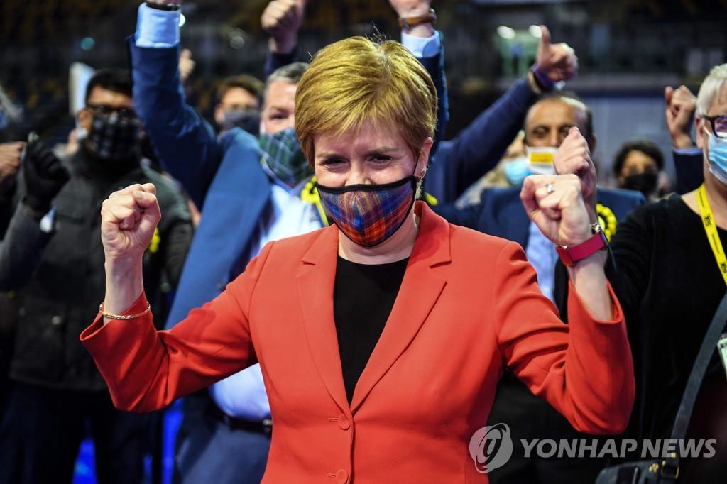 """스코틀랜드국민당 선거 승리…""""분리독립 투표 추진할 것"""""""