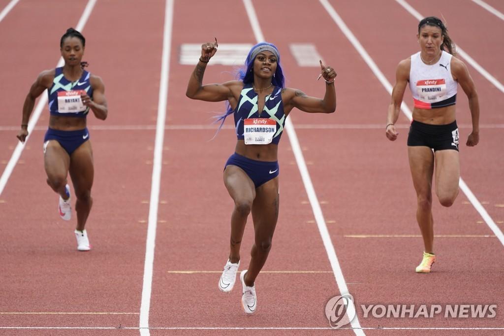 육상 여자 100m '신성' 리처드슨, 현역 최고 스프린터들과 대결