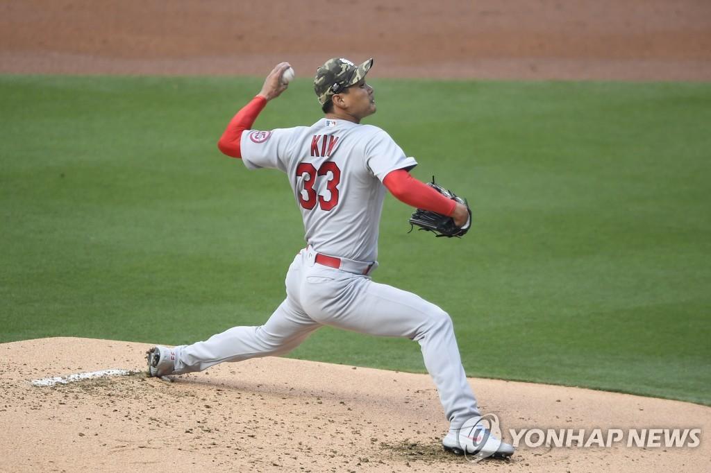 김광현, 김하성 밀어내기 볼넷에 강판…'MLB 첫 패전'(종합)