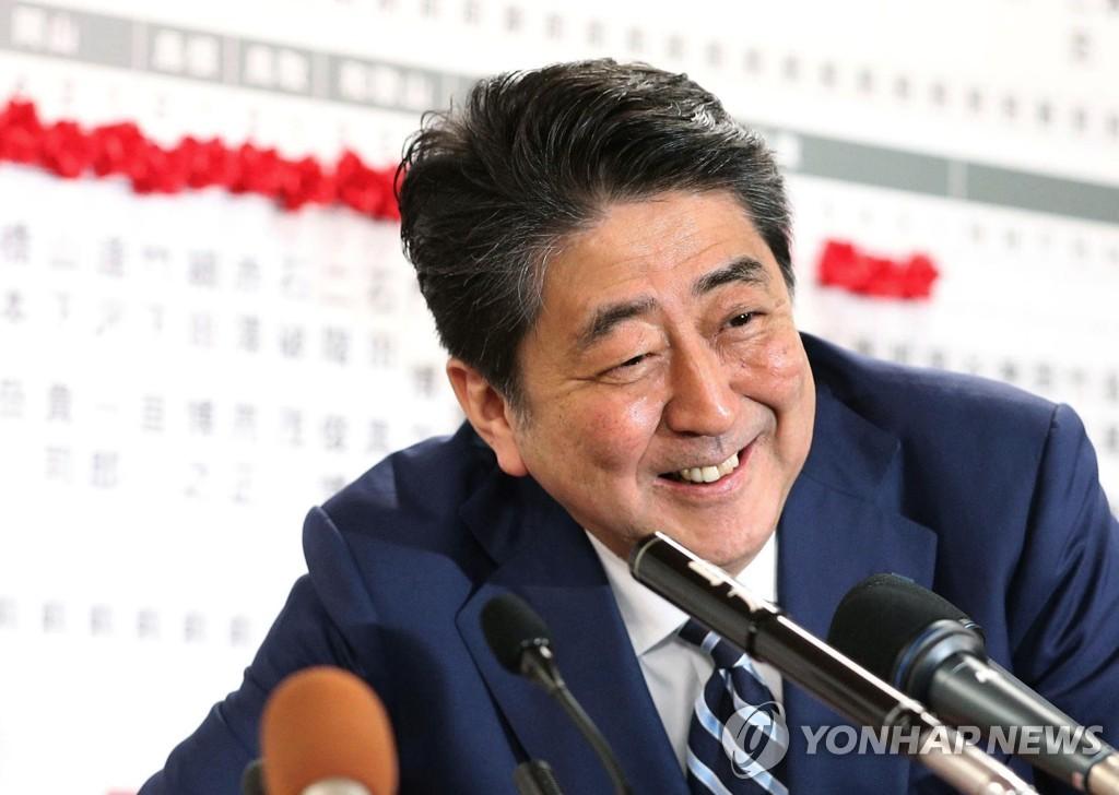日아베, 스가 총리 자민당 총재 연임 지지 표명
