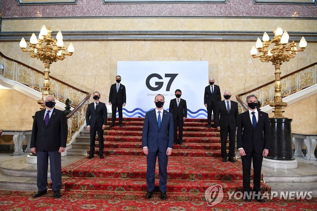 런던서 만난 G7외교장관들, 중국·러시아 공동대응 모색