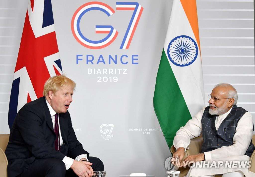 영국-인도 총리 화상회담…양국관계 '비약적 도약' 합의