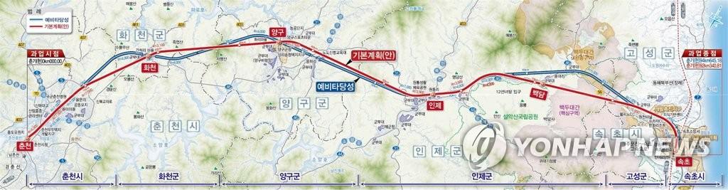 강원 동해북부선·동서고속화 철도사업 순항…2027년 완공 목표