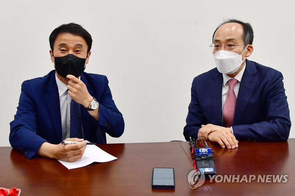 여야 원내수석 첫 회동…김부겸 인준안 놓고 평행선