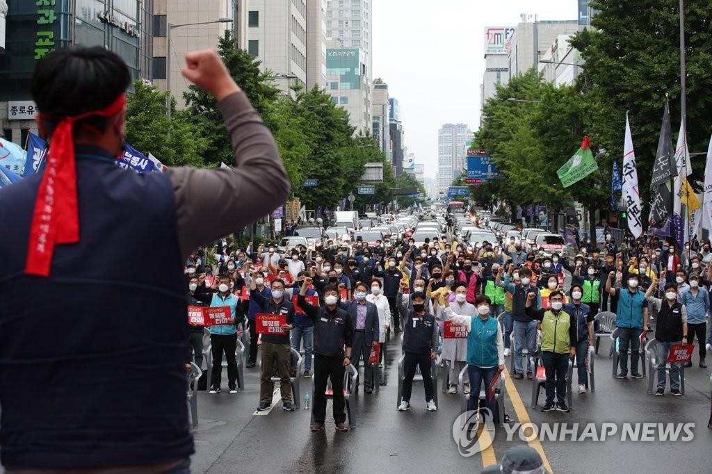 """""""5·18 차량시위 재현""""…광주서 전국노동자대회 개최"""